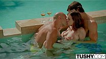 Bokep TUSHY First Double Penetration For Stunning Anya Olsen