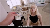 Bokep Short Hair Young Blonde Teen Stepsister Sex With Stepbrother For Money POV