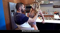 MYLF - Bossy Blonde Cougar Seduces Hot Young Hunk