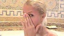 Paris Hilton takes her bath