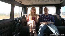 European Horny Bitch Zorah White fucking inside a Van