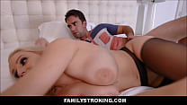 Horny Big Tits Blonde MILF Stepmom Vanessa Cage Goes To Stepson For Sex