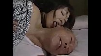 Japanese mature wife seduces father in law and murders her husband with lover