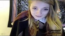 Young girl mastrubates in Harry Potter clothes - Camsy.de
