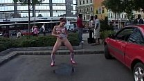 Girl Stripping  in public
