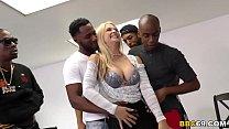Busty Blonde MILF Sarah Vandella Interracial Gangbang