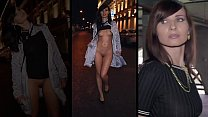 Beauty girl in the painted shorts in public. People are shocked!!!