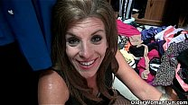 American milfs Shelby and Katrina get turned on in pantyhose