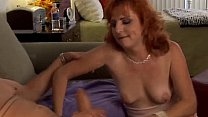 Redhead squirted on a dick