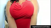 Spicy Curvy Latina, Angelina Castro bounces her huge tits while sucking on a long Spanish Cock that was helping her move. She rewards him nicely with a sloppy blowjob & her open legs, so he can stuff her moist Cuban muff until he jizzes on her mouth!