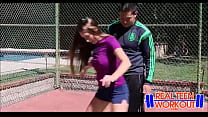 Sexy Athletic Teen Knows How To Get On The Team