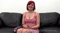 Hot redhead gets talked into anal