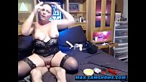 Milf In Stockings Performs Live Sex Camshow