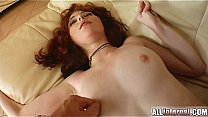 All Internal Redheaded gets her pussy filled by 2 cocks