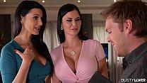 Convincing Arguments: Two Lesbians Swallow Realtor's Sperm