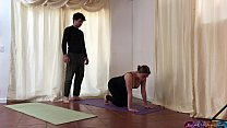 Blonde yoga student rides teachers dick -Erin Electra (preview)