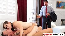 Nickey Huntsman gets caught and dp fuck