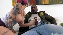 Bokep Anna Bell fucking a monster black Cock, big tits and bubble butt