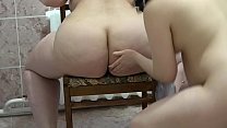 BBW and brunette check their anal, lecherous lesbian games, juicy butt and strong anus.