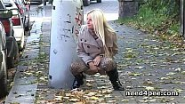 Blondes peeing in train stations and side walks