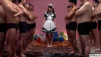 JAV huge gokkun event Airi Natsume naughty maid fellatio with glass Subtitles