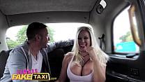 Taxi customer fucked hard
