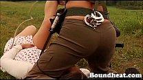 Mistress hunts new girl slaves scene