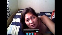 Filipina - Merri Berstagos - Vid Chat with BF