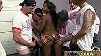 Naughty black wife gang banged by white friends 15