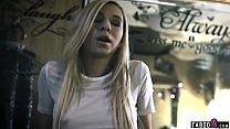 Trailer park trash stepsister teen forces the creampie