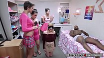 College babe Nora Ivy enters sorority by fucking a black guy