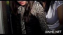 Babes fucked at public party