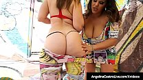Latina BBW Angelina Castro & Curvy Full Figured Virgo Peridot don't just lick & suck on ice cream! They find a big black chocolate dick to blow! Full Video & Angelina Live @ AngelinaCastroLive.com!