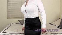 Long Tongue Brunette Mom Gives Insane Blowjob and Deepthroat Larkin Love