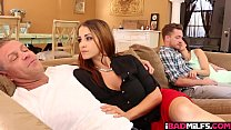 Kyle mason slids his big young cock deep inside her moist pussy and rams her like no tomorrow!
