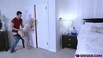 Chloe ride her hairy pussy on top of her step bros man meat and bounce off!