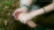 Cum Collecting Fairy - And outdoor HandJob show by Amedee Vause