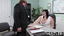 Cockloving BBW hammered hard in office