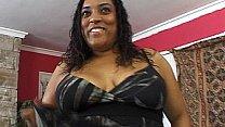 Ebony BBW rides huge black cock