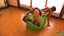Bokep Amazing Latina Playing On Fitball! Big Tits, Cameltoe, Ass!!