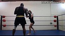 Black Man vs White Woman Sparring