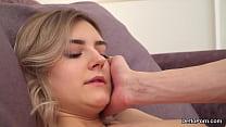 Exceptional nude model enjoys hymen deflowering