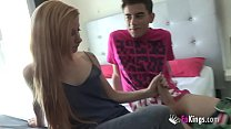 Kat's history: a 20yo who makes a porn debut to fulfill her fantasy, whom Jordi broke her pussy
