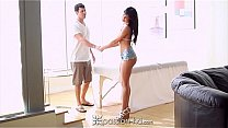 Passion-HD - Curvy brunette Rahyndee James rides a huge dick