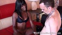 Bokep Nasty Black Femdom dominates white guy