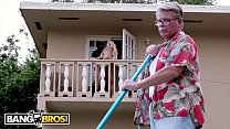 BANGBROS - Young Carmen Caliente Gets Power Fucked On Balcony Behind Daddy's Back