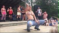 Bikergirls party and strip on stage - poor sound