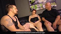 REIFE SWINGER - Horny German BBW gets banged by two dicks