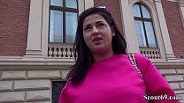 German Scout - Teeny Coco direkt von der Strasse in ihrer Wohnung bei Casting gefickt