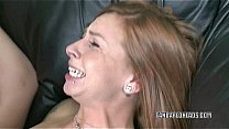 Redhead slut Scarlett Pain is getting her twat pounded